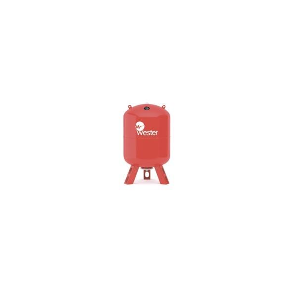 Бак расширительный для отопления 200 л красный вертикальный на ножках
