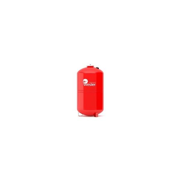 Бак расширительный для отопления 100 л красный  вертикальный на ножках