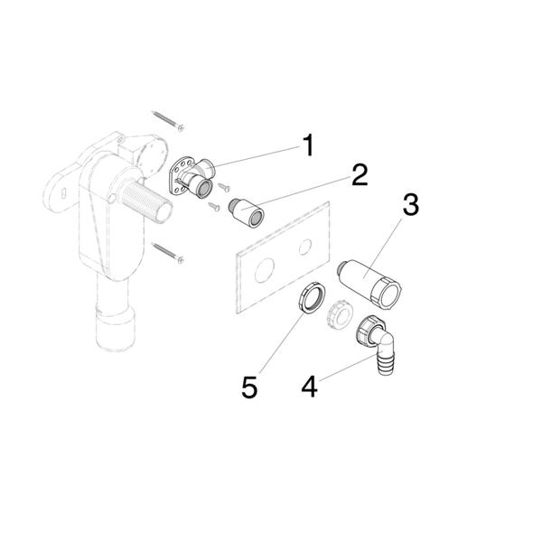 Сифон скрытого монтажа для стиральной/посудомоечной машины с подводом воду 5635.3