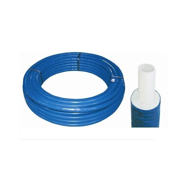 Труба металлопластиковая 16х2 в теплоизоляции 6 мм СИНЯЯ