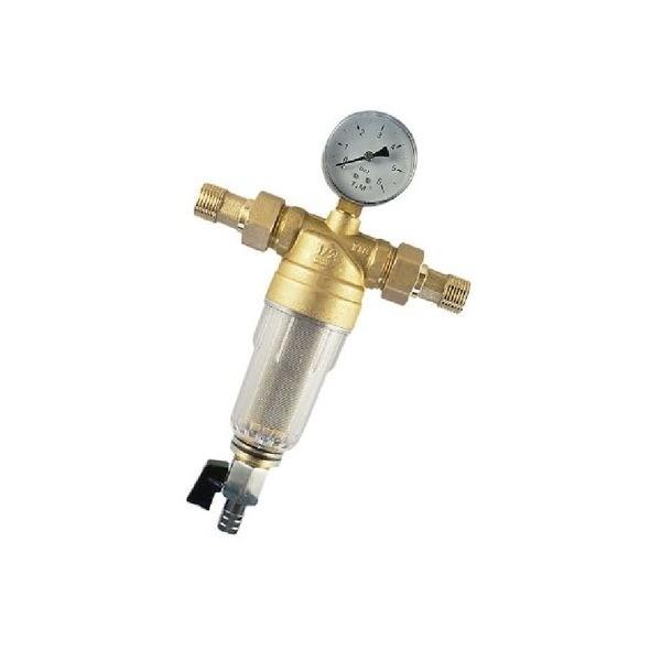 Фильтр с манометром 1/2 для холодной воды