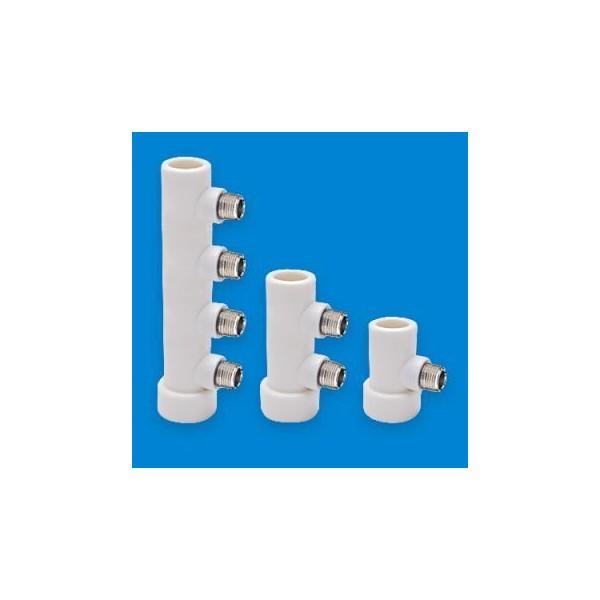 Коллектор полипропиленовый 32-3/4 наружная 4 выхода 6SPK0504