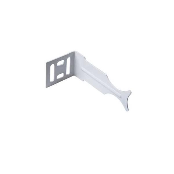 Кронштейн для радиатора угловой универсальный белый