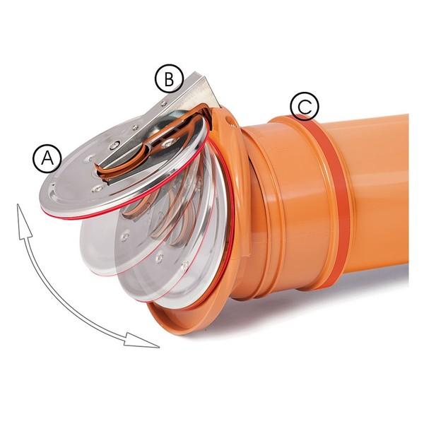Канализационный обратный клапан 110