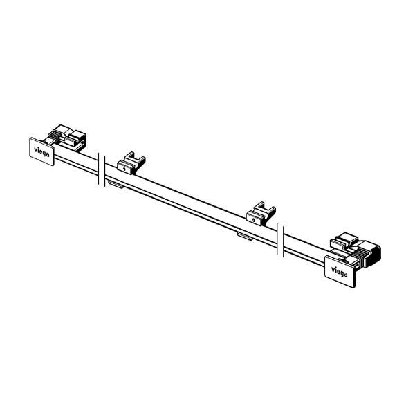 Решетка для встраиваемого в стену трапа 300-1200 мм черная Advantix Vario Visign SR3 4967.32