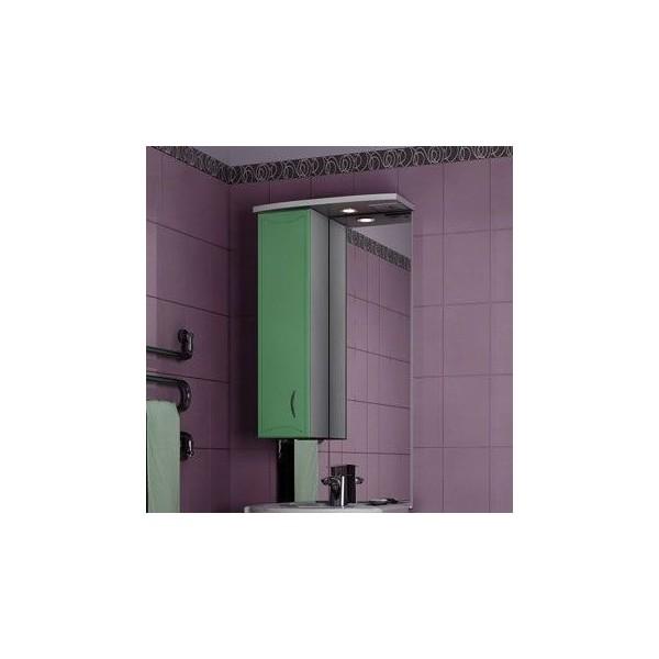 Зеркало для ванной комнаты Стиль 55 Фисташково-белое левое