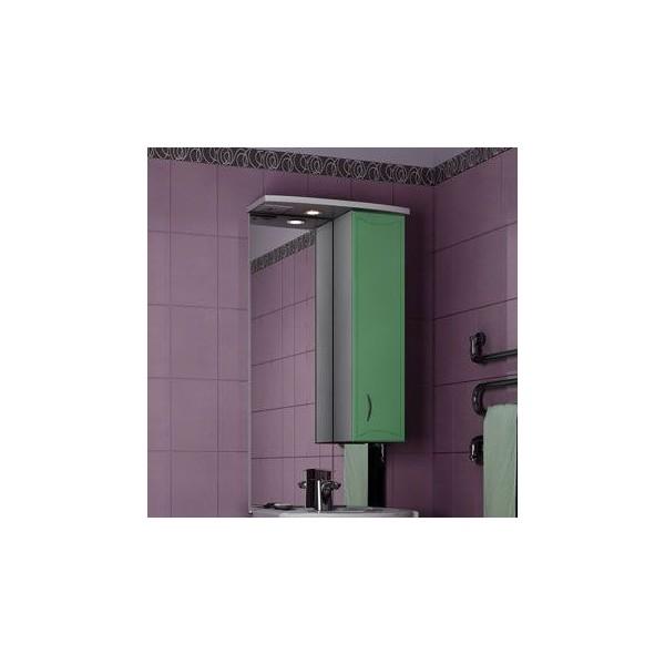 Зеркало для ванной комнаты Стиль 55 Фисташково-белое правое