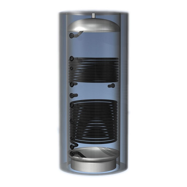 Теплоаккумулятор 500 л 2 теплообменника без теплоизоляции