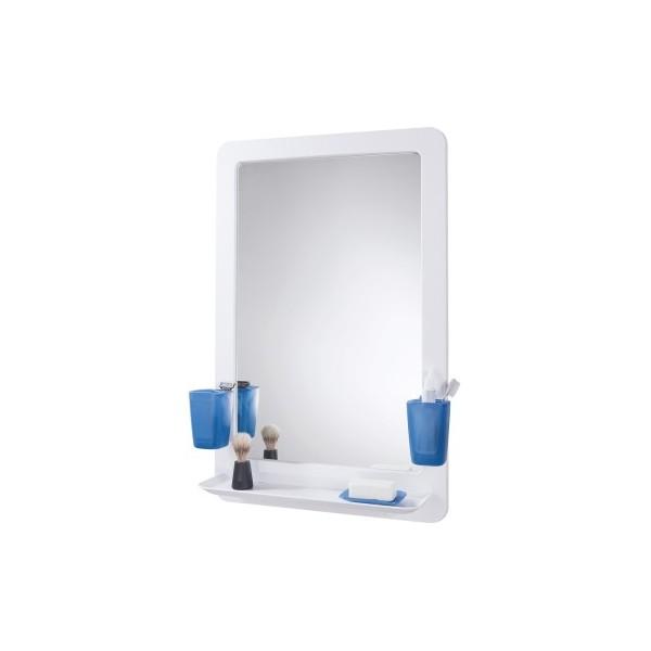 Зеркало для ванной графит с 2 станами